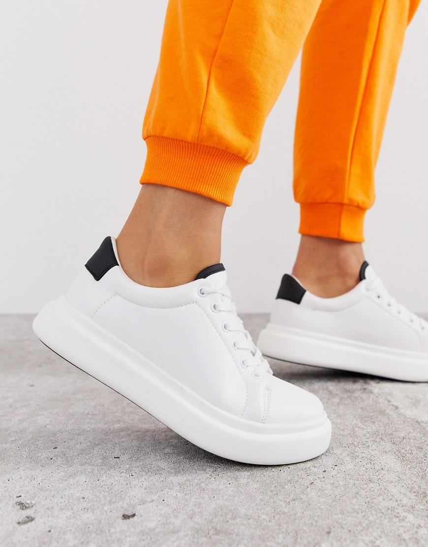Белые массивные кроссовки на шнуровке ASOS DESIGN Doro - Белый CL000026451341 - цена 2390 руб., купить на Clouty.ru