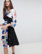 Платье миди с рукавами клеш и принтом ASOS - Мульти