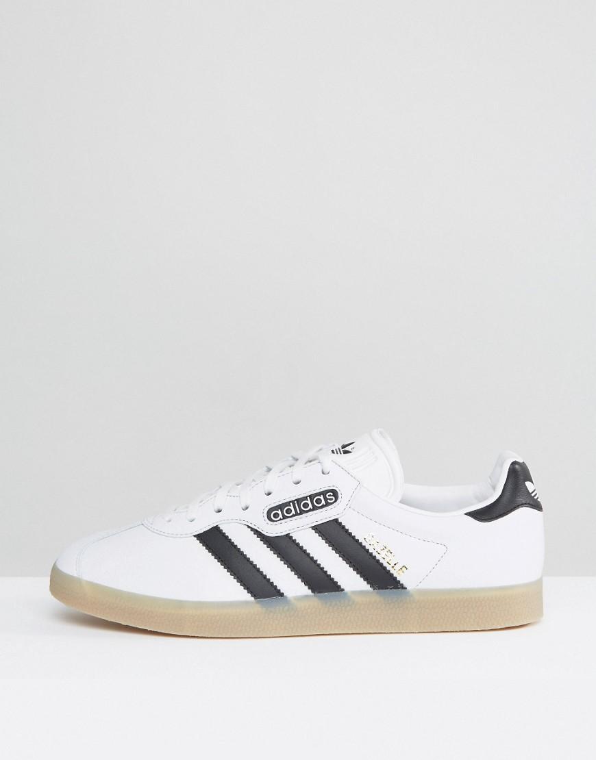 adidas Originals | Белые кроссовки adidas Originals Gazelle Super BB5243 - Белый | Clouty