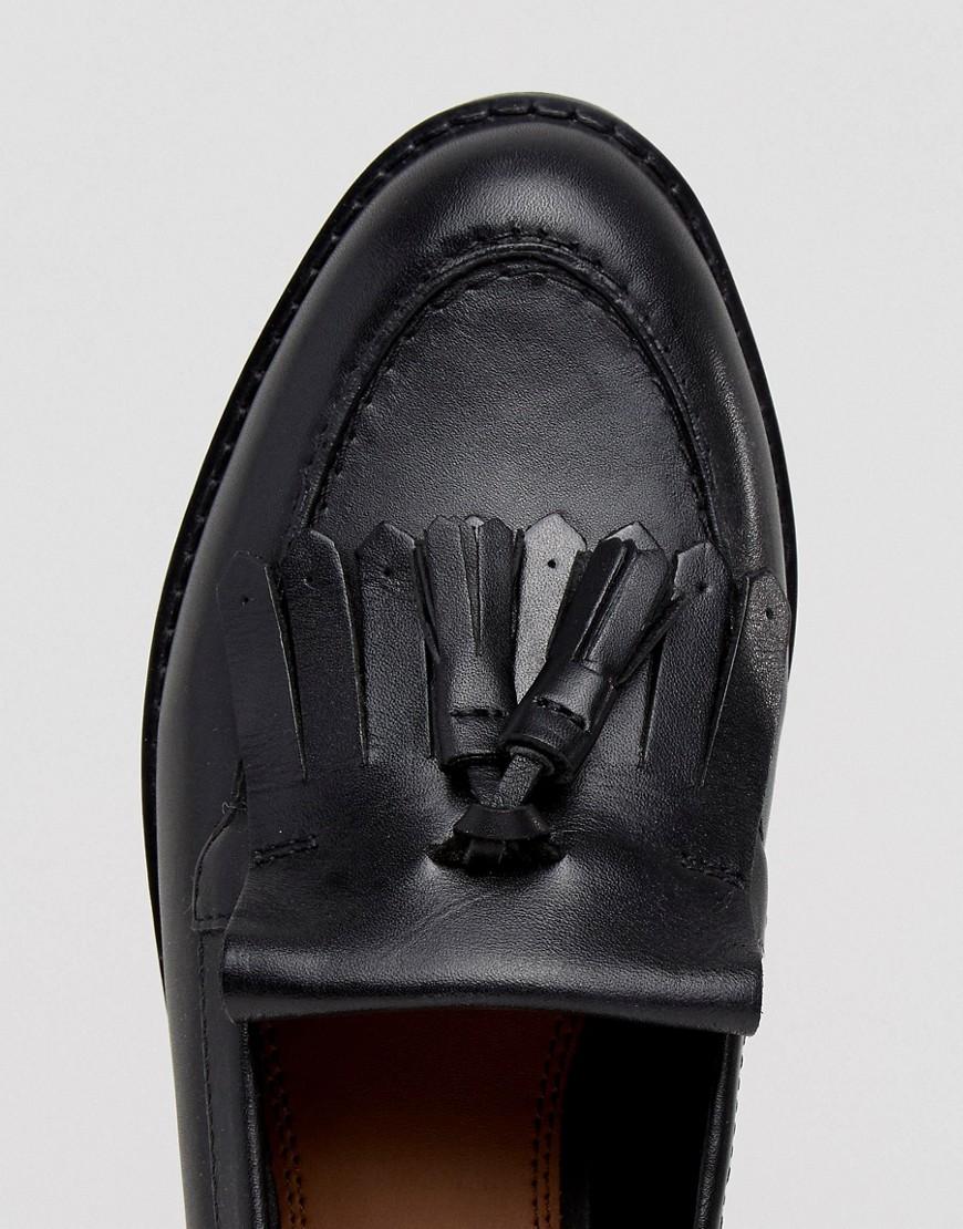 ASOS | Кожаные лоферы ASOS MAXWELL - Черный | Clouty