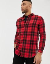 Клетчатая рубашка классического кроя boohooMAN - Красный