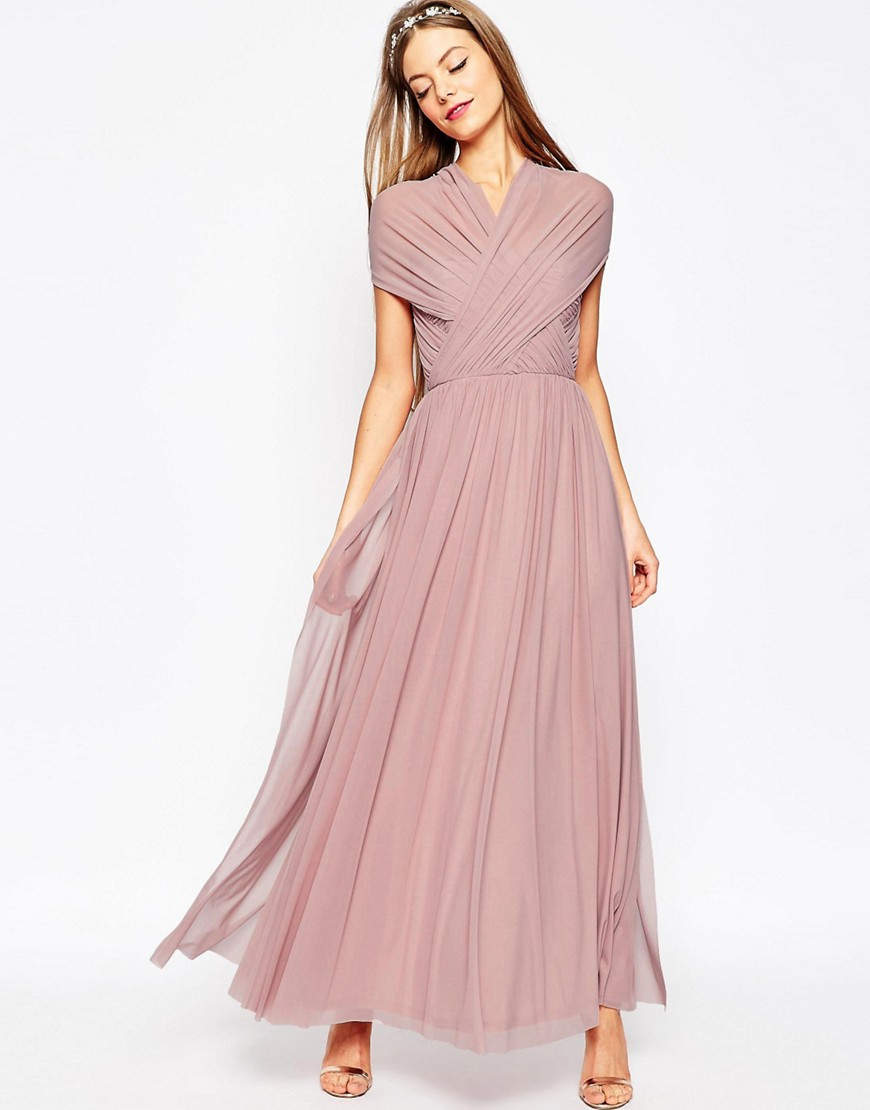 Asos | Платье макси ASOS WEDDING - Мульти | Clouty