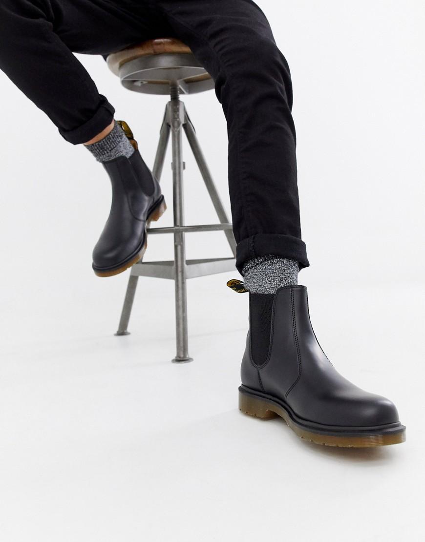 Dr. Martens   Черные ботинки челси Dr Martens 2976 - Черный   Clouty