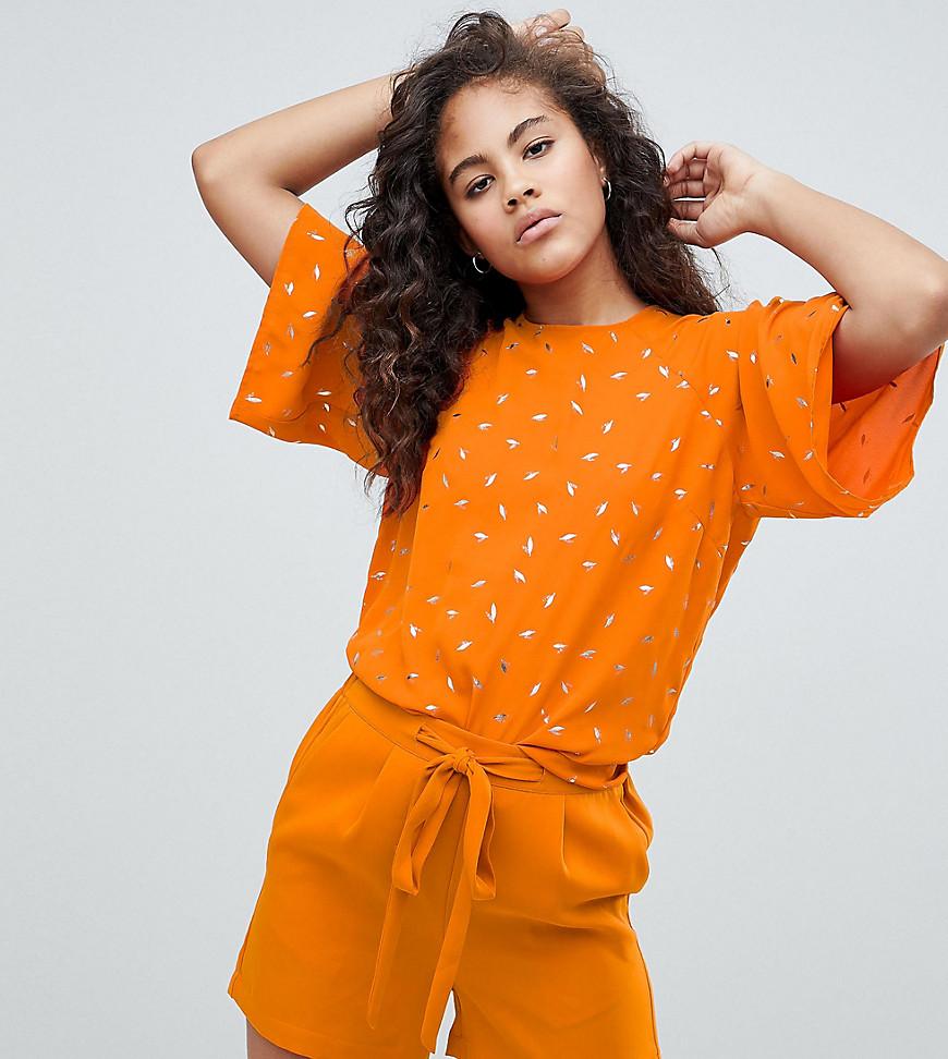 Y.A.S. | Блузка с принтом Y.A.S Tall - Оранжевый | Clouty