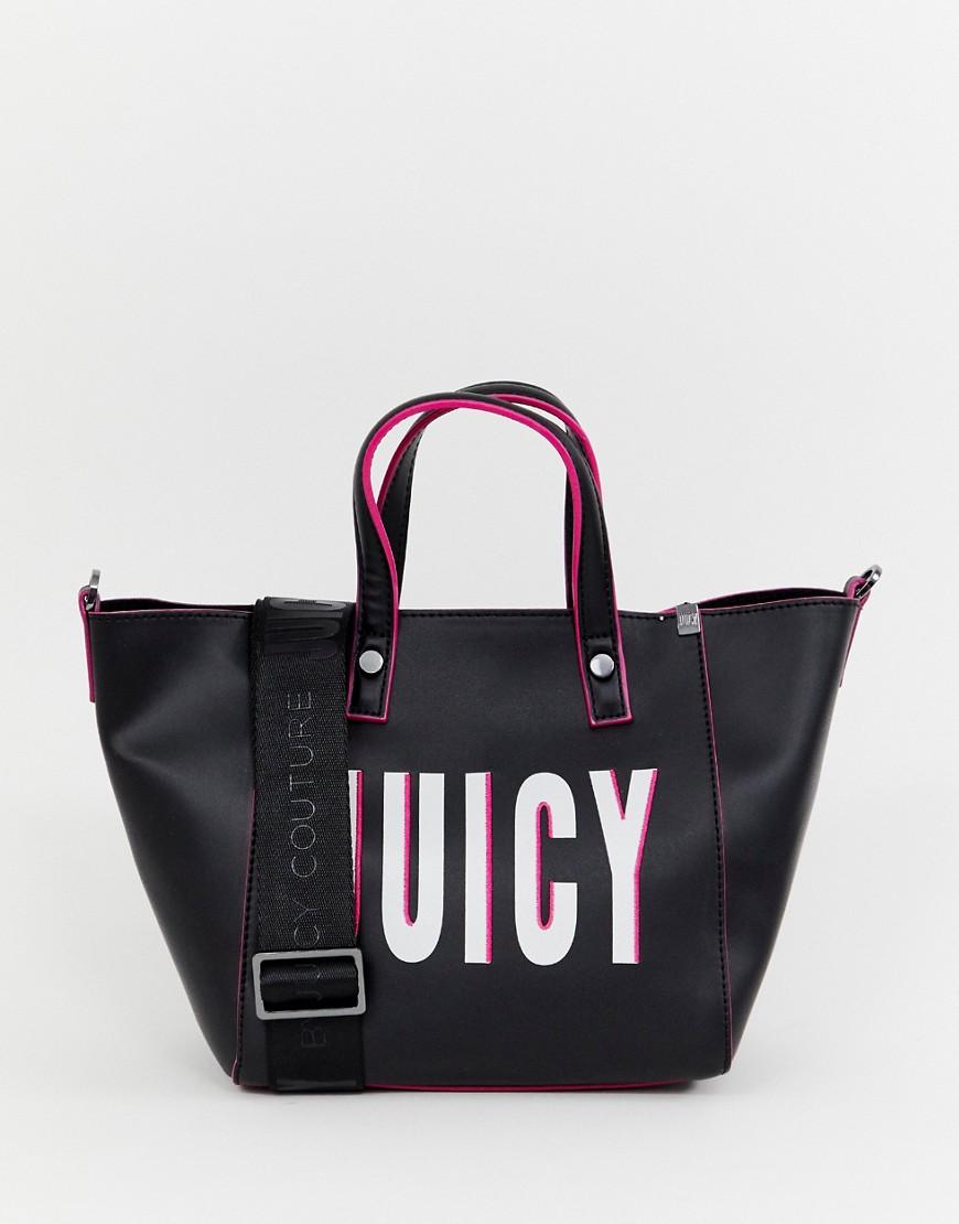 Juicy Couture   Сумка-тоут с логотипом Juicy Couture - Черный   Clouty