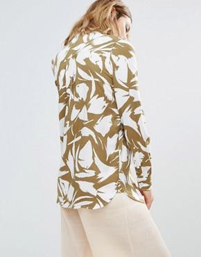 Ganni | Рубашка с принтом листьев Ganni Wilson - Коричневый | Clouty