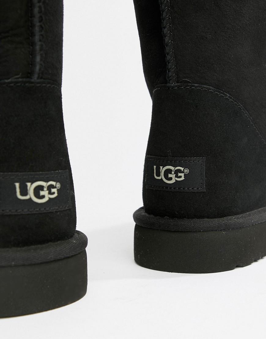 UGG Australia   Черные замшевые короткие ботинки UGG Classic - Черный   Clouty