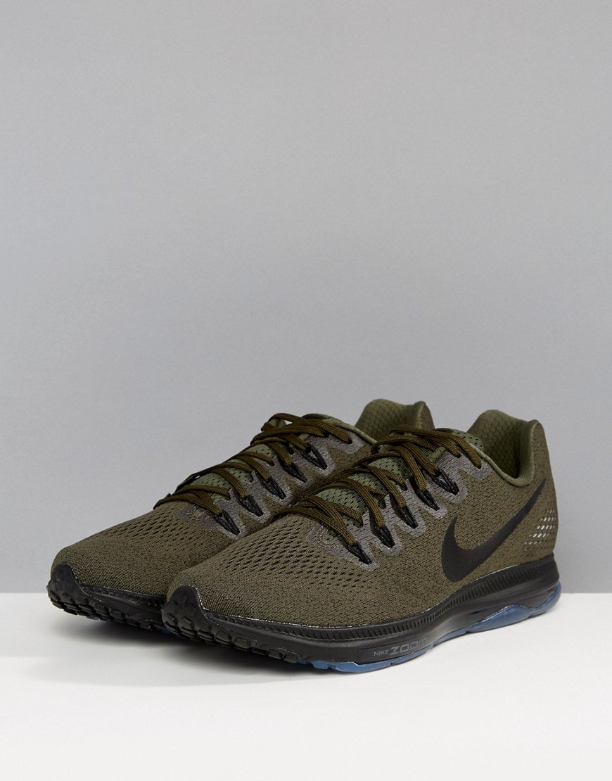 357118f5 ... NIKE | Кроссовки цвета хаки Nike Running Zoom All Out 878670-302 -  Зеленый