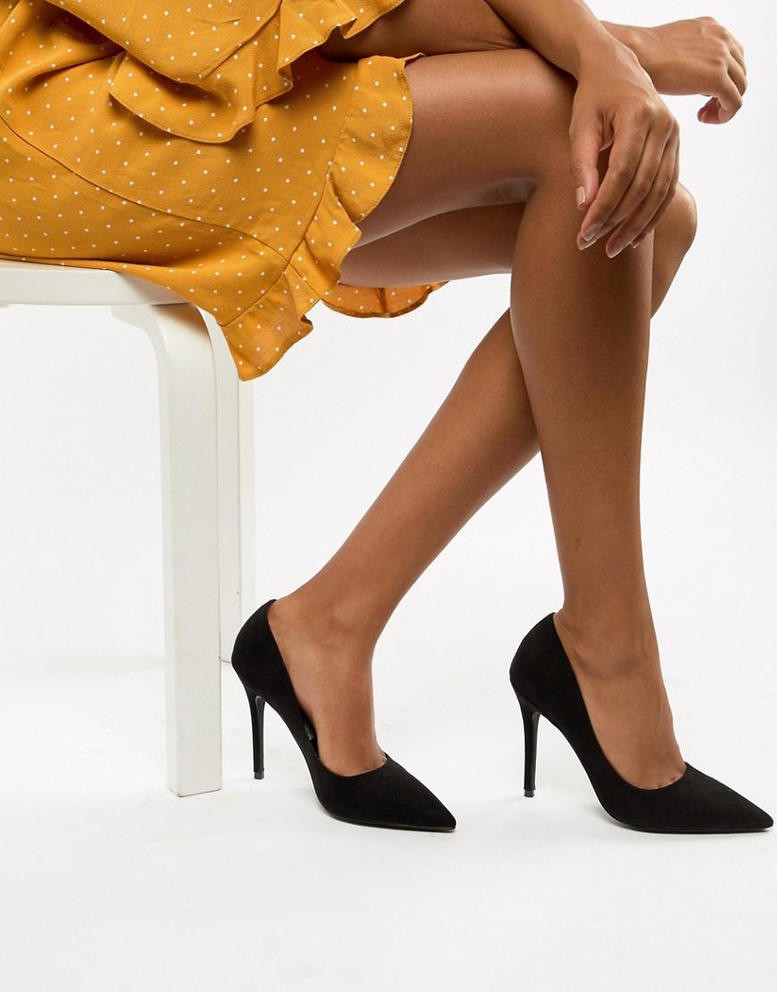 Miss Selfridge | Черные остроносые туфли-лодочки Miss Selfridge - Черный | Clouty