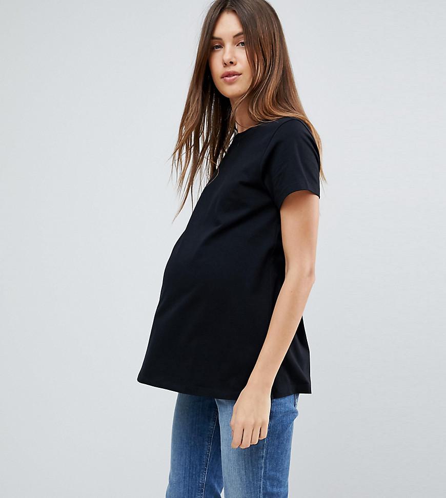 ASOS | Черная футболка с круглым вырезом ASOS DESIGN Maternity - Черный | Clouty