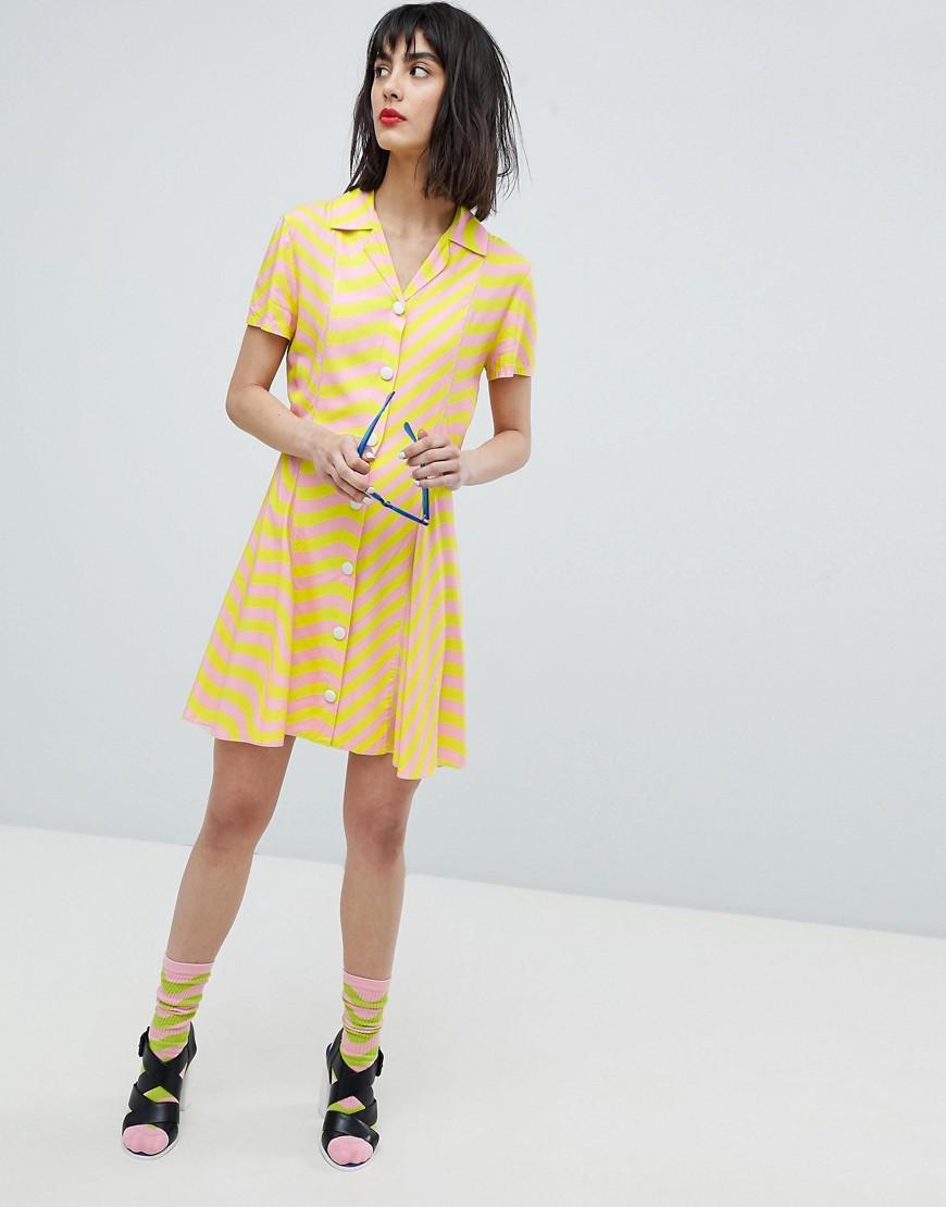 House Of Holland | Приталенное платье со свободной юбкой House Of Holland - Мульти | Clouty