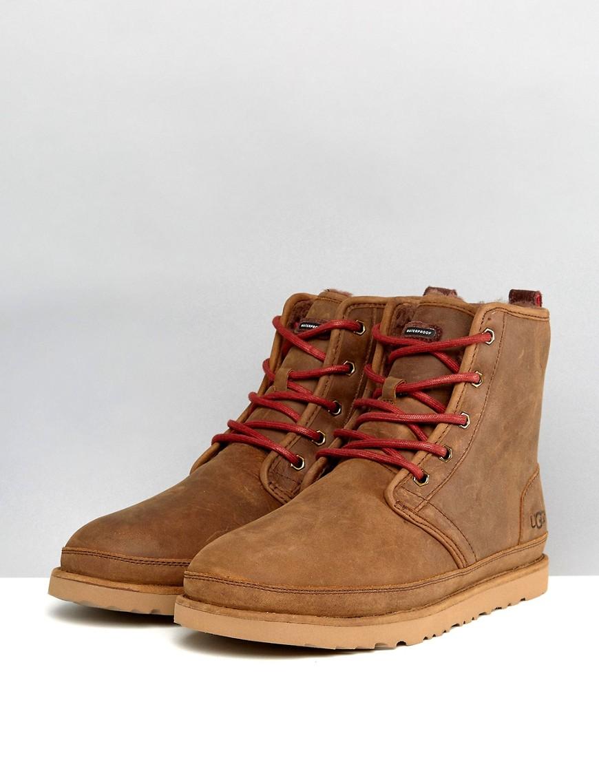UGG Australia | Непромокаемые замшевые ботинки UGG Harkley Treadlite - Коричневый | Clouty