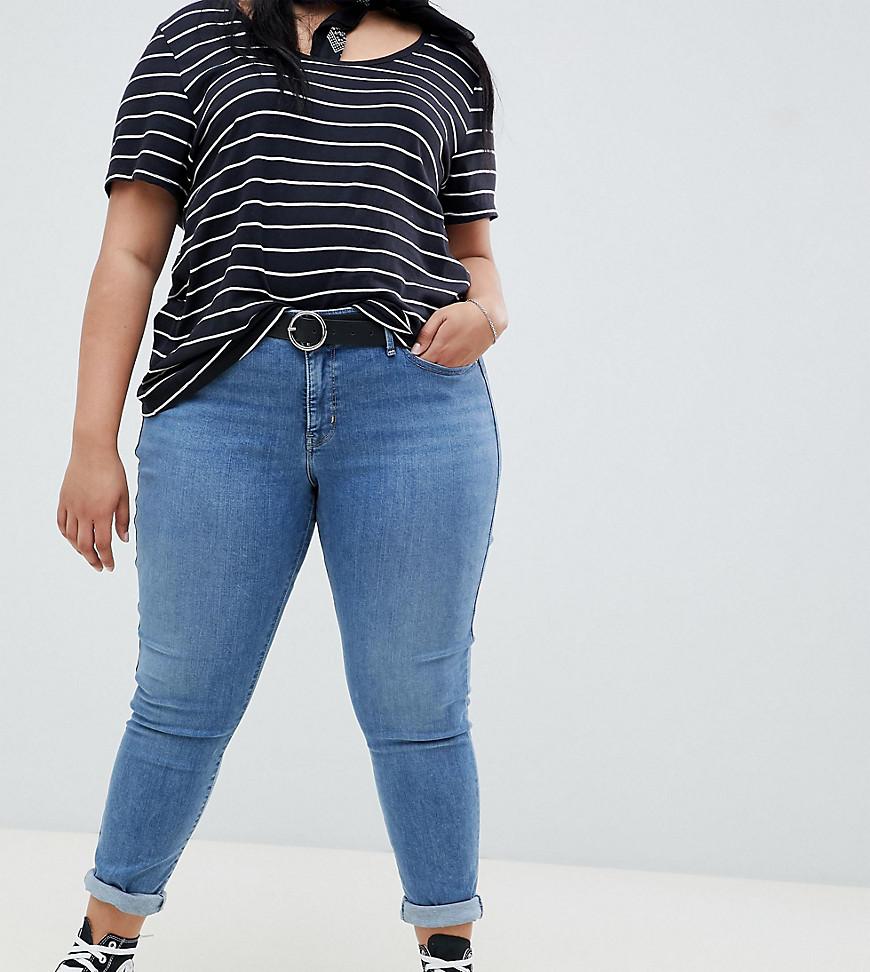 Levi's | Выбеленные моделирующие джинсы скинни Levis Plus 310 - Синий | Clouty