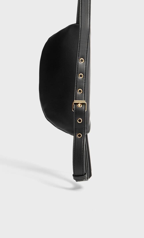 Stradivarius   Stradivarius Стеганая Поясная Сумка Женская Коллекция Черный 103   Clouty