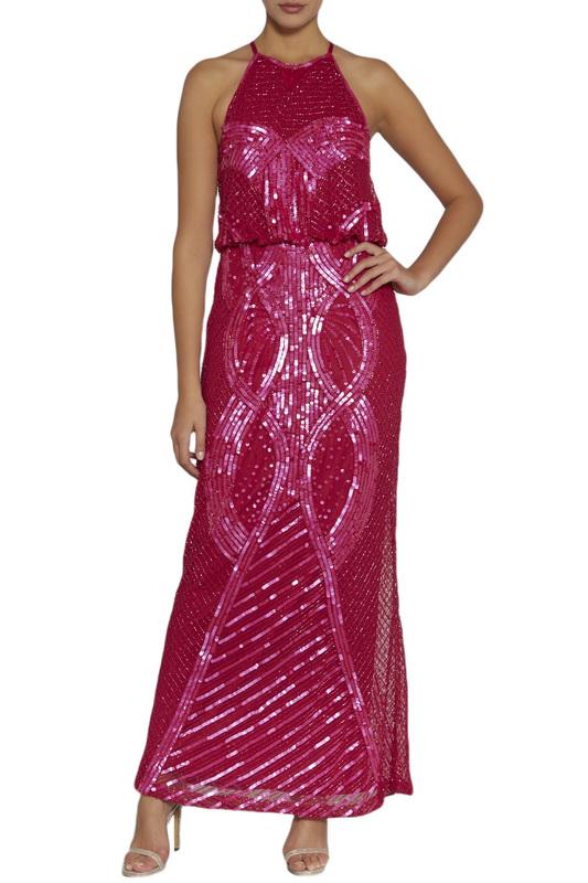Gina Bacconi | Fuchsia Dress Gina Bacconi | Clouty