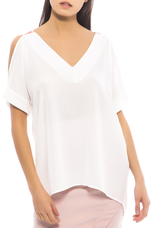 TRUSSARDI | Белый blouse Trussardi Collection | Clouty