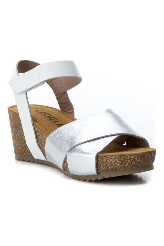 Carmela | Silver platform sandals Carmela | Clouty