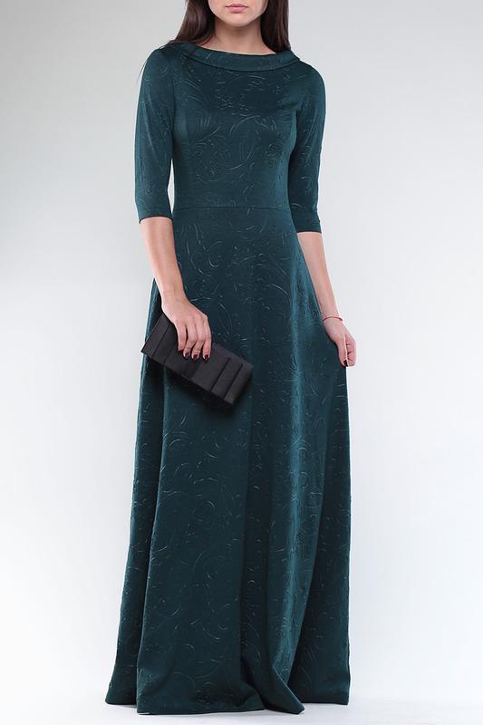 Laura Bettini | Темно-изумрудный принт Платье Laura Bettini | Clouty