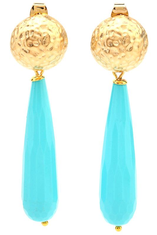 Сhantal   Голубой, золотой Серьги СHANTAL   Clouty
