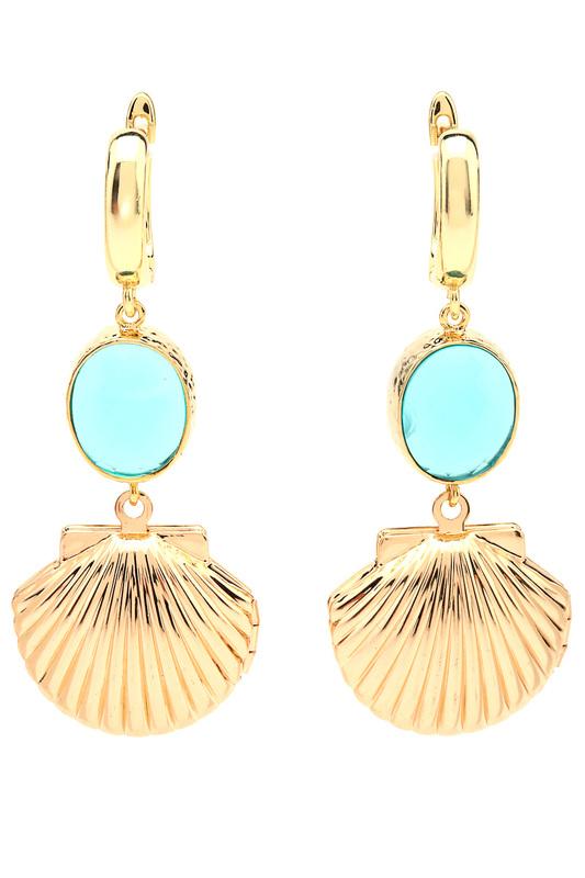Сhantal | Голубой, золотой Серьги СHANTAL | Clouty