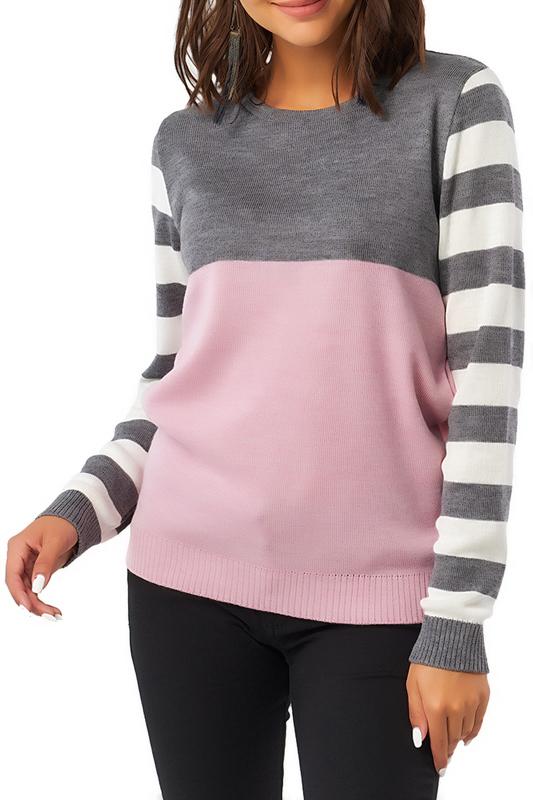 Fly | Розовый, серый Джемпер Fly | Clouty