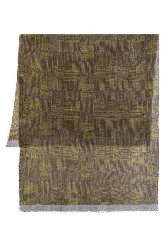 Michel Katana | Жемчужный, лайм, коричневый Палантин Michel Katana | Clouty
