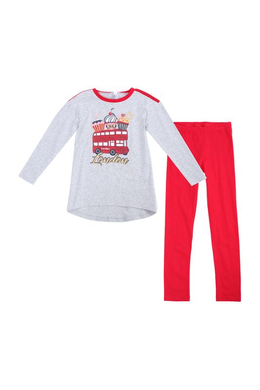 PlayToday | Красный, серый Комплект: футболка, леггинсы PlayToday | Clouty