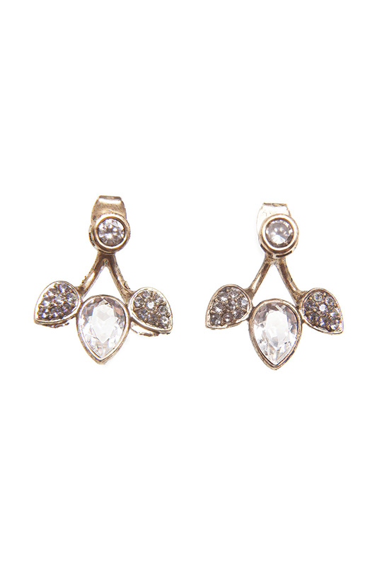 Asavi Jewel | Белый, золотой Серьги Asavi Jewel | Clouty