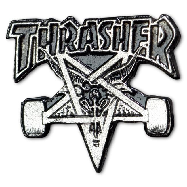 Thrasher | Серый Значок Thrasher Skate Goat Lapel | Clouty