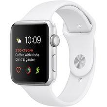 Фото Часы Apple Watch Series 2 42 мм, серебристый алюминий, спортивный ремешок белый