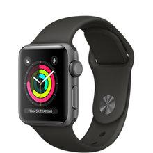 Фото Умные часы Apple Watch Series 3 38мм, алюминий «серый космос», спортивный ремешок серого цвета