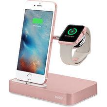 Фото Док-станция Belkin Valet Charge Dock for Apple Watch + iPhone розовое золото