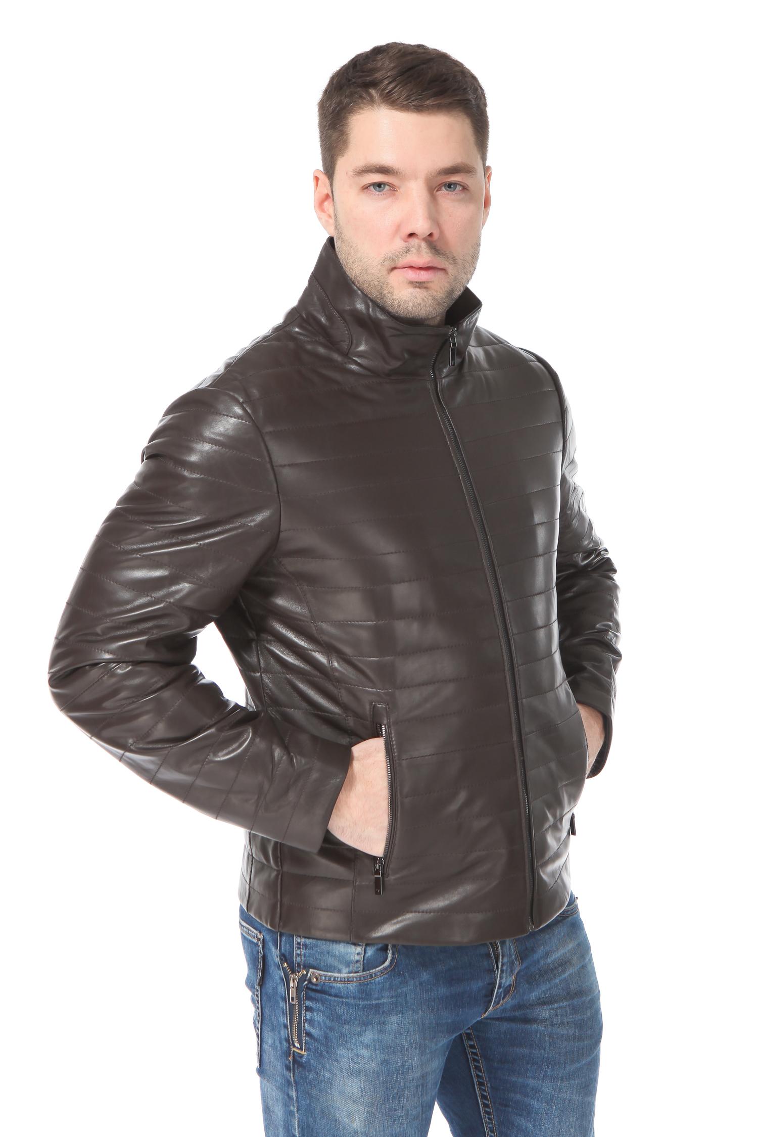 0552d622acb Мужская кожаная куртка из натуральной кожи утепленная CL000009487485 ...