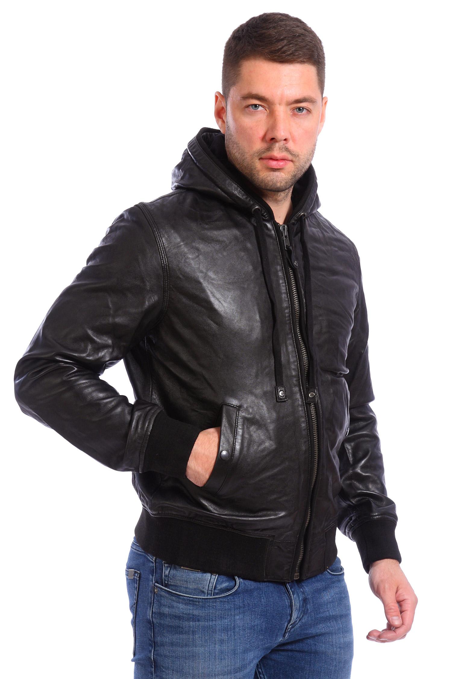 Кожаные куртки с капюшоном мужские фото