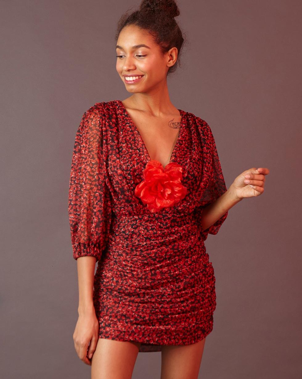 12Storeez | Платье мини с драпировкой S | Clouty