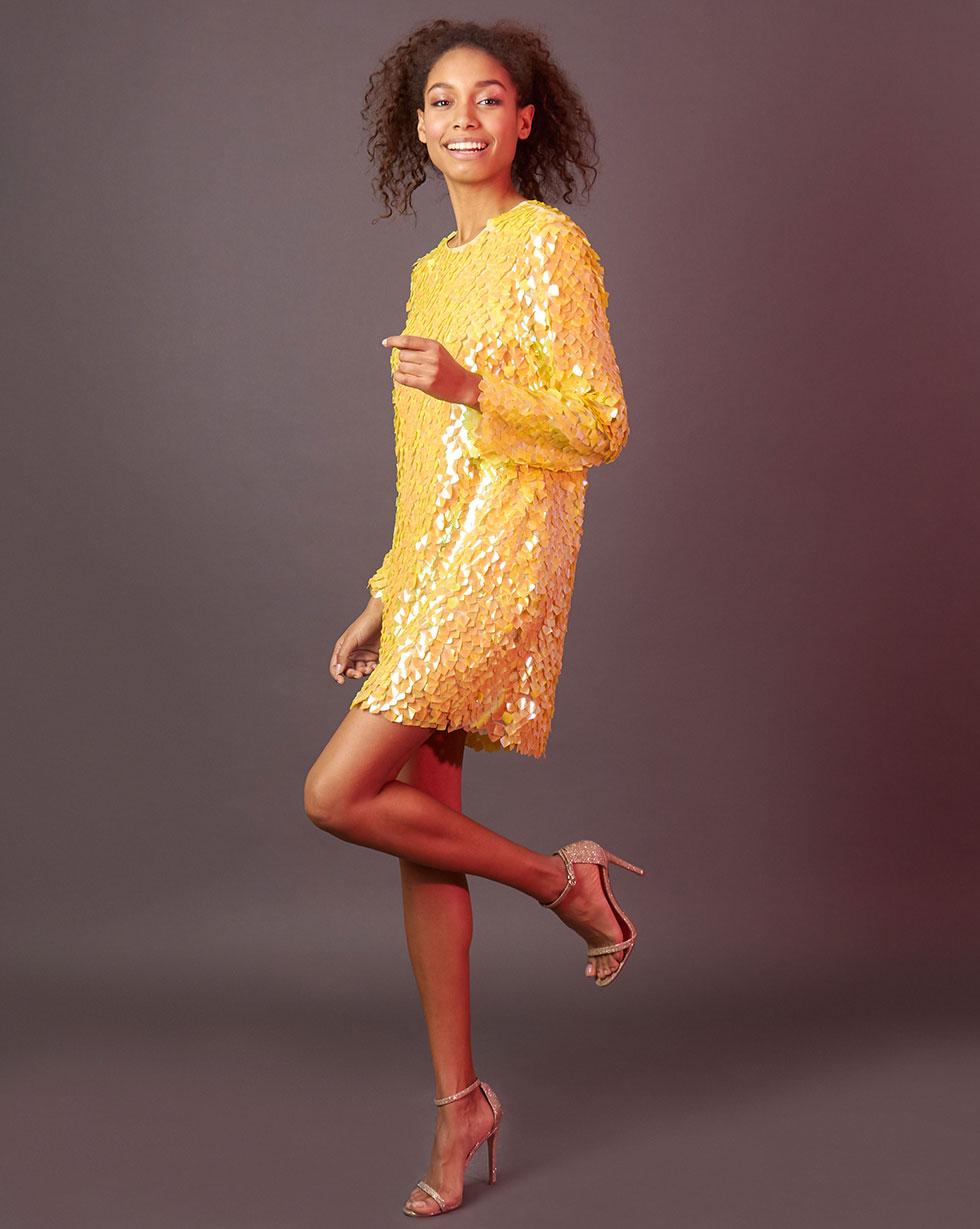12Storeez   Платье мини из пайеток M   Clouty