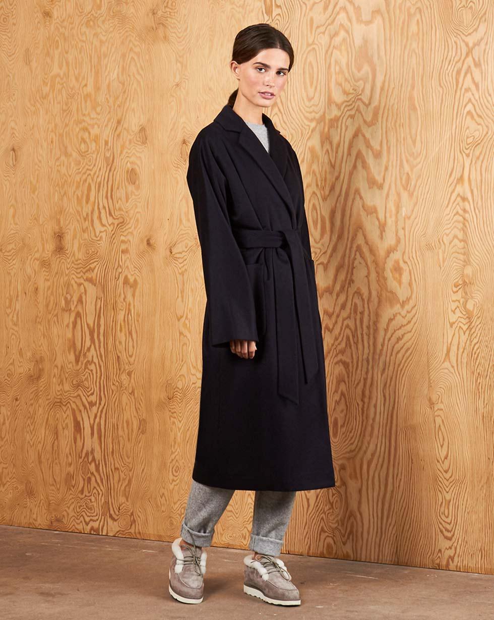 12Storeez | Пальто-халат с поясом One size | Clouty