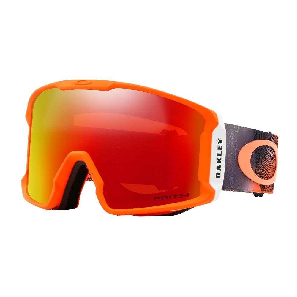 Oakley | Оранжевый Маска сноубордическая Oakley Line Miner | Clouty
