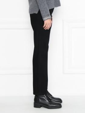 Ermanno Scervino | Укороченные джинсы декорированные стразами | Clouty