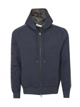 Etro | Толстовка из хлопка на молнии с капюшоном | Clouty