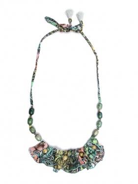 Etro | Ожерелье из стекла и шелка с узором | Clouty