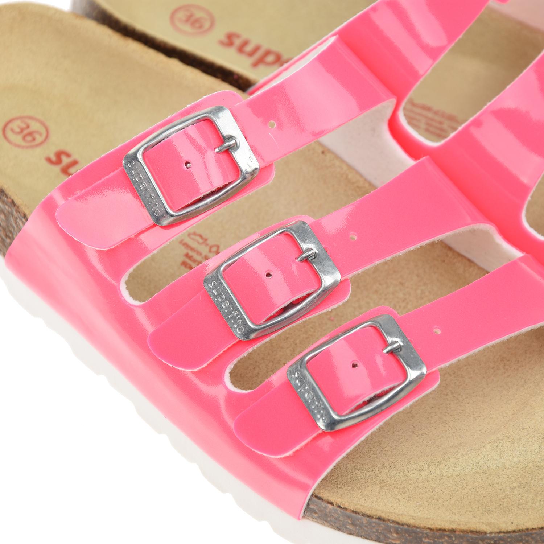 Superfit | Розовые шлепки на пробковой подошве SUPERFIT детские | Clouty