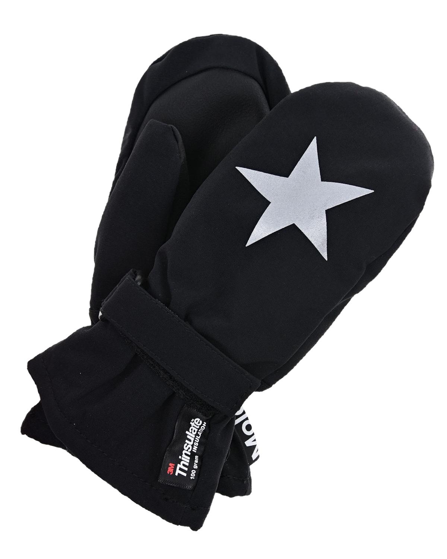 Molo   Черные варежки со звездой Molo детские   Clouty