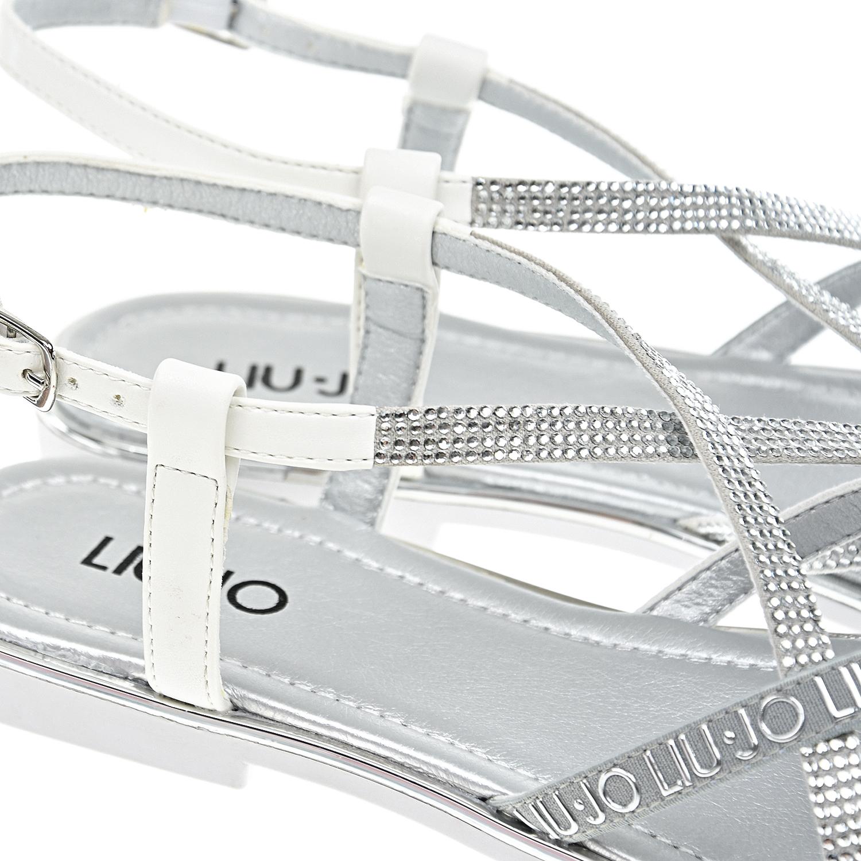 Liu•Jo | Серебристые босоножки со стразами Liu Jo | Clouty