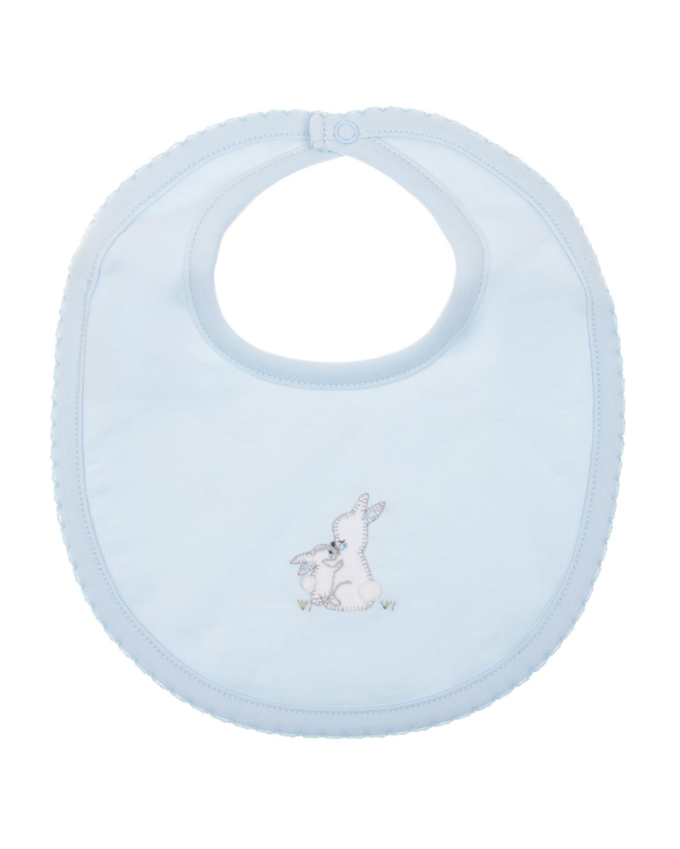 Lyda Baby | Слюнявчик из хлопка с застежкой на кнопку Lyda Baby детский | Clouty