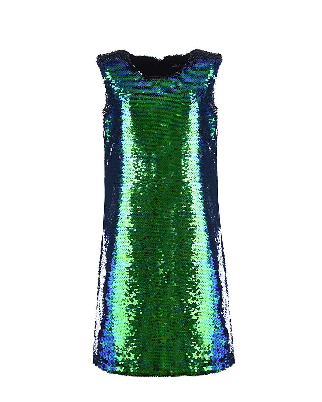 Dan Maralex   Сине-зеленое платье из пайеток Dan Maralex детское   Clouty