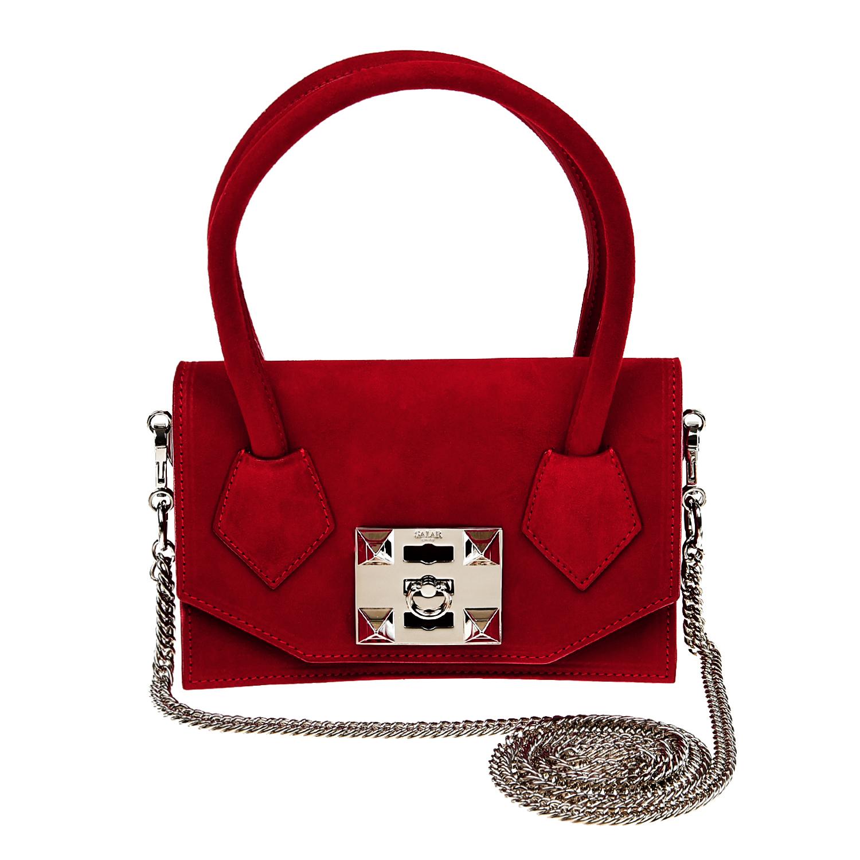 Salar | Красная замшевая сумка 20x13x5 см Salar | Clouty