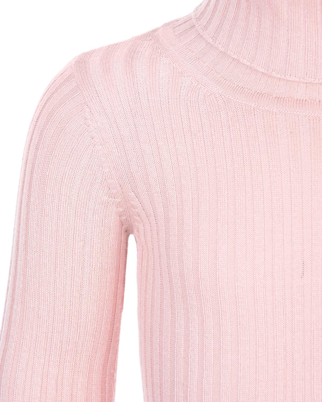 Sol de Mayo | Розовая водолазка из смеси шелка и кашемира Sol de Mayo детская | Clouty
