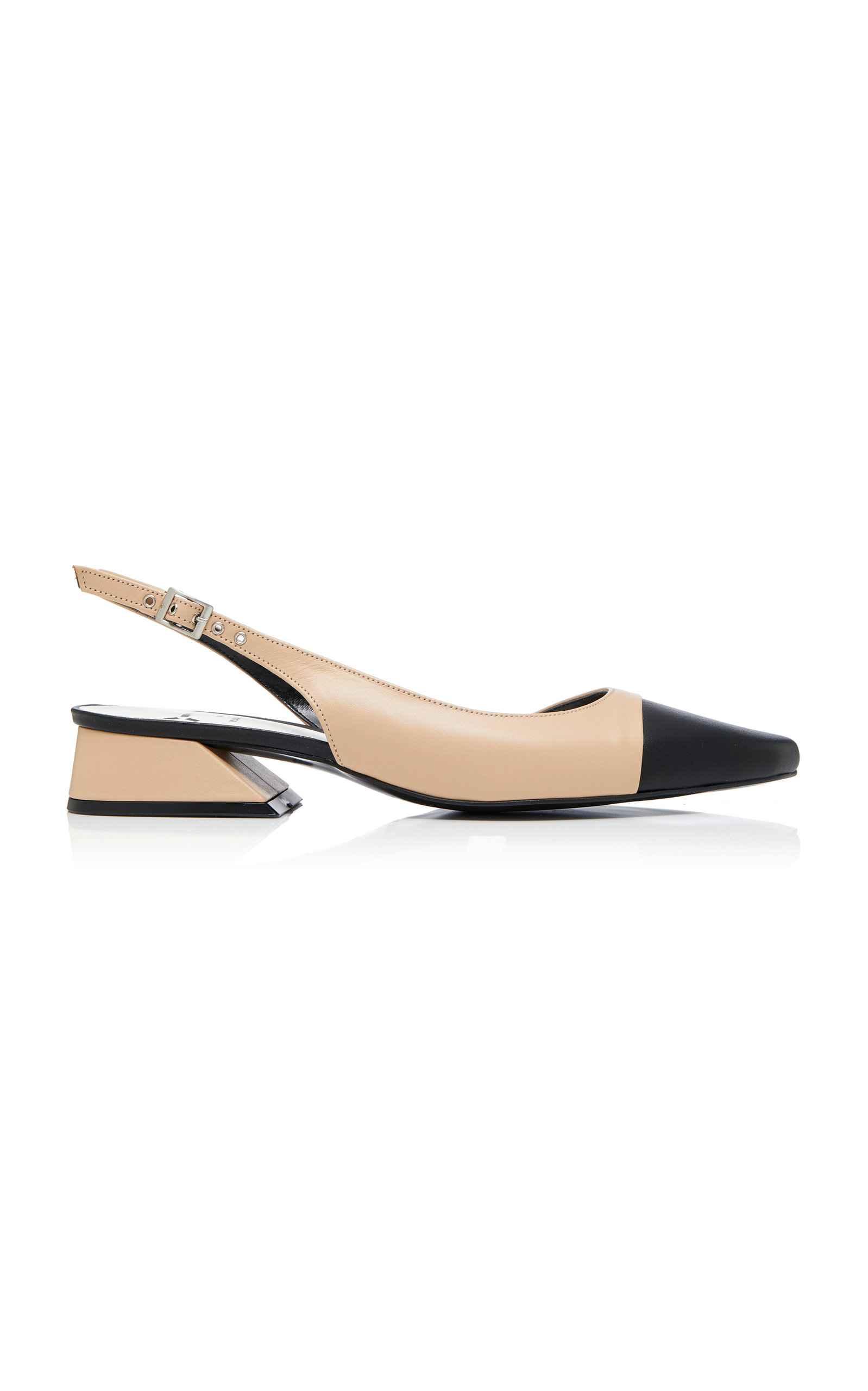 Yuul Yie | Yuul Yie Exclusive Two-Tone Leather Slingback Pumps | Clouty