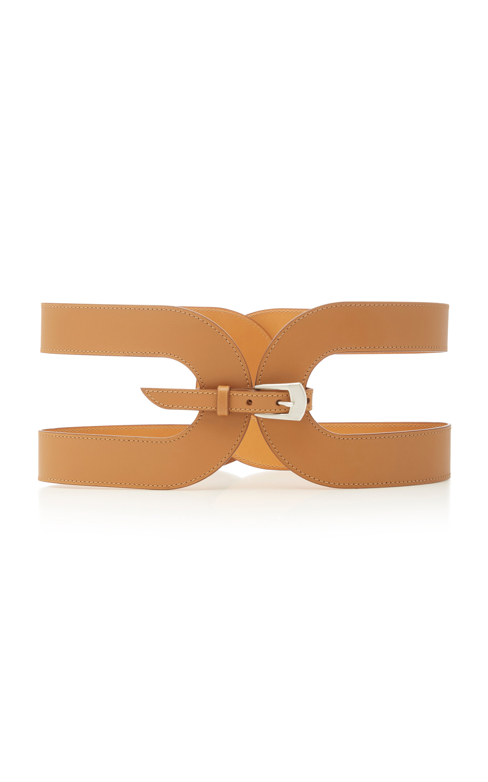 Maison Vaincourt   Maison Vaincourt Cage Leather Waist Belt   Clouty